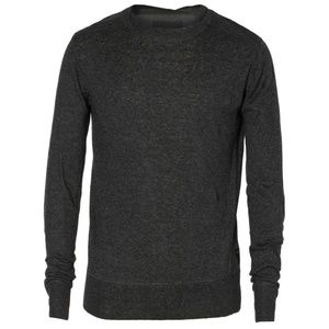 All Saints | Linen Silk Pullover Gray Sweatshirt